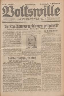 Volkswille : Zentralorgan der Deutschen Sozialistischen Arbeitspartei Polens. Jg.14, Nr. 45 (23 Februar 1929) + dod.