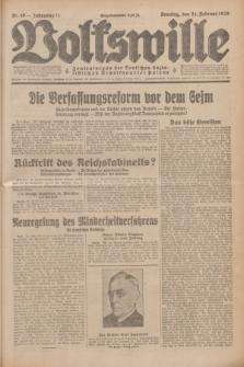 Volkswille : Zentralorgan der Deutschen Sozialistischen Arbeitspartei Polens. Jg.14, Nr. 46 (24 Februar 1929) + dod.