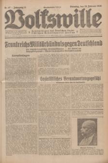 Volkswille : Zentralorgan der Deutschen Sozialistischen Arbeitspartei Polens. Jg.14, Nr. 47 (26 Februar 1929) + dod.