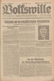 Volkswille : Zentralorgan der Deutschen Sozialistischen Arbeitspartei Polens. Jg.14, Nr. 48 (27 Februar 1929) + dod.