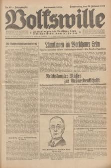 Volkswille : Zentralorgan der Deutschen Sozialistischen Arbeitspartei Polens. Jg.14, Nr. 49 (28 Februar 1929) + dod.