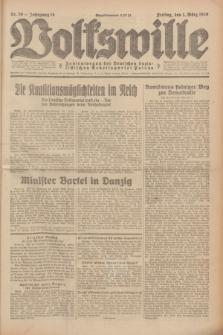 Volkswille : Zentralorgan der Deutschen Sozialistischen Arbeitspartei Polens. Jg.14, Nr. 50 (1 März 1929) + dod.