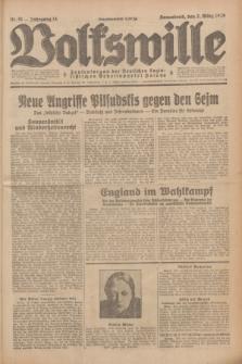 Volkswille : Zentralorgan der Deutschen Sozialistischen Arbeitspartei Polens. Jg.14, Nr. 51 (2 März 1929) + dod.