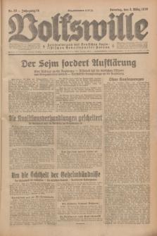 Volkswille : Zentralorgan der Deutschen Sozialistischen Arbeitspartei Polens. Jg.14, Nr. 52 (3 März 1929) + dod.