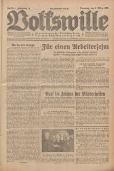 Volkswille : Zentralorgan der Deutschen Sozialistischen Arbeitspartei Polens. Jg.14, Nr. 53 (5 März 1929) + dod.