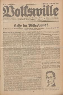Volkswille : Zentralorgan der Deutschen Sozialistischen Arbeitspartei Polens. Jg.14, Nr. 54 (6 März 1929) + dod.