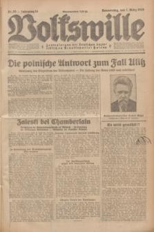 Volkswille : Zentralorgan der Deutschen Sozialistischen Arbeitspartei Polens. Jg.14, Nr. 55 (7 März 1929) + dod.