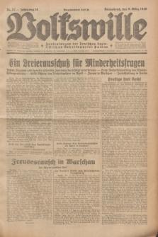 Volkswille : Zentralorgan der Deutschen Sozialistischen Arbeitspartei Polens. Jg.14, Nr. 57 (9 März 1929) + dod.