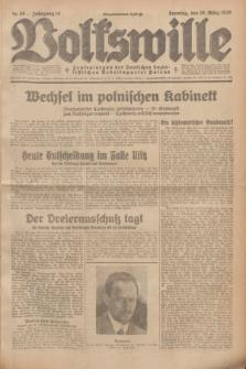 Volkswille : Zentralorgan der Deutschen Sozialistischen Arbeitspartei Polens. Jg.14, Nr. 58 (10 März 1929) + dod.
