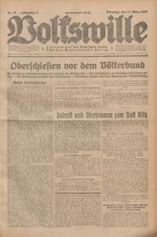 Volkswille : Zentralorgan der Deutschen Sozialistischen Arbeitspartei Polens. Jg.14, Nr. 59 (12 März 1929) + dod.
