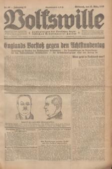 Volkswille : Zentralorgan der Deutschen Sozialistischen Arbeitspartei Polens. Jg.14, Nr. 60 (13 März 1929) + dod.