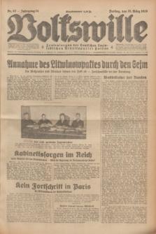 Volkswille : Zentralorgan der Deutschen Sozialistischen Arbeitspartei Polens. Jg.14, Nr. 62 (15 März 1929) + dod.