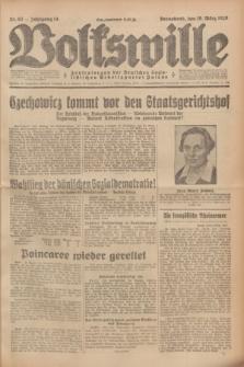 Volkswille : Zentralorgan der Deutschen Sozialistischen Arbeitspartei Polens. Jg.14, Nr. 63 (16 März 1929) + dod.