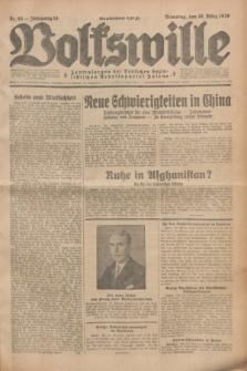 Volkswille : Zentralorgan der Deutschen Sozialistischen Arbeitspartei Polens. Jg.14, Nr. 65 (19 März 1929) + dod.