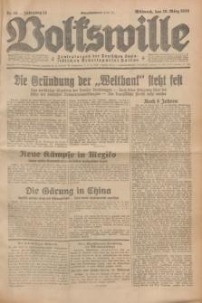 Volkswille : Zentralorgan der Deutschen Sozialistischen Arbeitspartei Polens. Jg.14, Nr. 66 (20 März 1929) + dod.