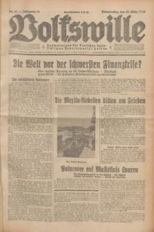 Volkswille : Zentralorgan der Deutschen Sozialistischen Arbeitspartei Polens. Jg.14, Nr. 67 (21 März 1929) + dod.