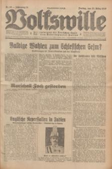 Volkswille : Zentralorgan der Deutschen Sozialistischen Arbeitspartei Polens. Jg.14, Nr. 68 (22 März 1929) + dod.