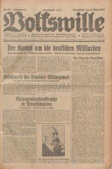 Volkswille : Zentralorgan der Deutschen Sozialistischen Arbeitspartei Polens. Jg.14, Nr. 69 (23 März 1929) + dod.