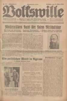 Volkswille : Zentralorgan der Deutschen Sozialistischen Arbeitspartei Polens. Jg.14, Nr. 70 (24 März 1929) + dod.