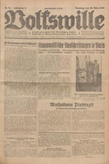 Volkswille : Zentralorgan der Deutschen Sozialistischen Arbeitspartei Polens. Jg.14, Nr. 71 (26 März 1929) + dod.