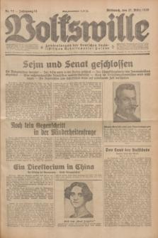 Volkswille : Zentralorgan der Deutschen Sozialistischen Arbeitspartei Polens. Jg.14, Nr. 72 (27 März 1929) + dod.