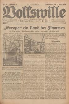 Volkswille : Zentralorgan der Deutschen Sozialistischen Arbeitspartei Polens. Jg.14, Nr. 73 (28 März 1929) + dod.