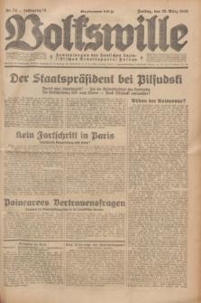 Volkswille : Zentralorgan der Deutschen Sozialistischen Arbeitspartei Polens. Jg.14, Nr. 74 (29 März 1929) + dod.