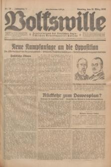 Volkswille : Zentralorgan der Deutschen Sozialistischen Arbeitspartei Polens. Jg.14, Nr. 76 (31 März 1929) + dod.