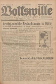 Volkswille : Zentralorgan der Deutschen Sozialistischen Arbeitspartei Polens. Jg.14, Nr. 77 (3 April 1929) + dod.