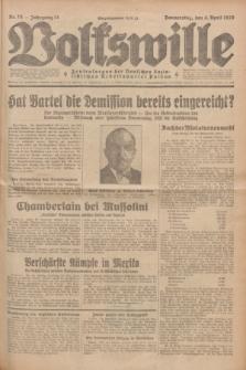 Volkswille : Zentralorgan der Deutschen Sozialistischen Arbeitspartei Polens. Jg.14, Nr. 78 (4 April 1929) + dod.