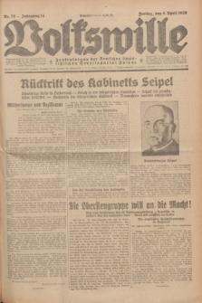 Volkswille : Zentralorgan der Deutschen Sozialistischen Arbeitspartei Polens. Jg.14, Nr. 79 (5 April 1929) + dod.