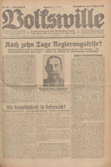 Volkswille : Zentralorgan der Deutschen Sozialistischen Arbeitspartei Polens. Jg.14, Nr. 80 (6 April 1929) + dod.