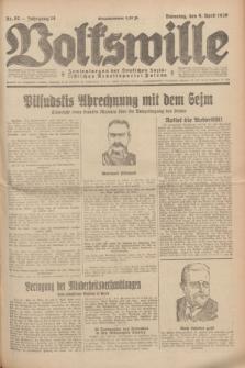 Volkswille : Zentralorgan der Deutschen Sozialistischen Arbeitspartei Polens. Jg.14, Nr. 82 (9 April 1929) + dod.