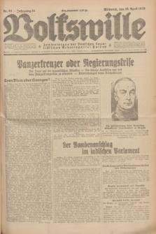 Volkswille : Zentralorgan der Deutschen Sozialistischen Arbeitspartei Polens. Jg.14, Nr. 83 (10 April 1929) + dod.