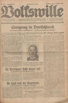 Volkswille : Zentralorgan der Deutschen Sozialistischen Arbeitspartei Polens. Jg.14, Nr. 85 (12 April 1929) + dod.