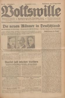 Volkswille : Zentralorgan der Deutschen Sozialistischen Arbeitspartei Polens. Jg.14, Nr. 86 (13 April 1929) + dod.