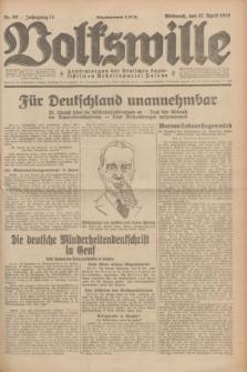 Volkswille : Zentralorgan der Deutschen Sozialistischen Arbeitspartei Polens. Jg.14, Nr. 89 (17 April 1929) + dod.