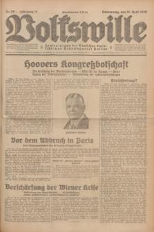 Volkswille : Zentralorgan der Deutschen Sozialistischen Arbeitspartei Polens. Jg.14, Nr. 90 (18 April 1929) + dod.