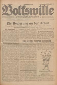 Volkswille : Zentralorgan der Deutschen Sozialistischen Arbeitspartei Polens. Jg.14, Nr. 91 (19 April 1929) + dod.
