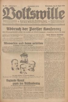 Volkswille : Zentralorgan der Deutschen Sozialistischen Arbeitspartei Polens. Jg.14, Nr. 92 (20 April 1929) + dod.