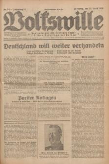 Volkswille : Zentralorgan der Deutschen Sozialistischen Arbeitspartei Polens. Jg.14, Nr. 94 (23 April 1929) + dod.
