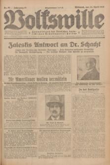 Volkswille : Zentralorgan der Deutschen Sozialistischen Arbeitspartei Polens. Jg.14, Nr. 95 (24 April 1929) + dod.