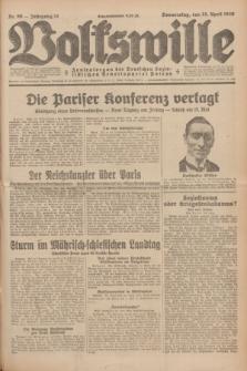 Volkswille : Zentralorgan der Deutschen Sozialistischen Arbeitspartei Polens. Jg.14, Nr. 96 (25 April 1929) + dod.
