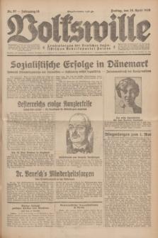 Volkswille : Zentralorgan der Deutschen Sozialistischen Arbeitspartei Polens. Jg.14, Nr. 97 (26 April 1929) + dod.