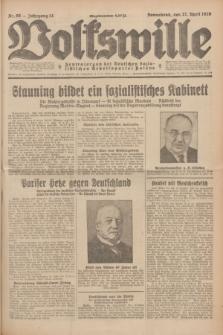 Volkswille : Zentralorgan der Deutschen Sozialistischen Arbeitspartei Polens. Jg.14, Nr. 98 (27 April 1929) + dod.