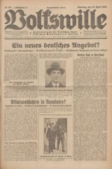 Volkswille : Zentralorgan der Deutschen Sozialistischen Arbeitspartei Polens. Jg.14, Nr. 99 (28 April 1929) + dod.
