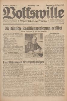 Volkswille : Zentralorgan der Deutschen Sozialistischen Arbeitspartei Polens. Jg.14, Nr. 100 (30 April 1929) + dod.