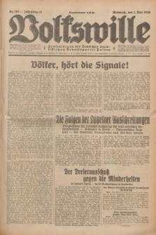 Volkswille : Zentralorgan der Deutschen Sozialistischen Arbeitspartei Polens. Jg.14, Nr. 101 (1 Mai 1929) + dod.