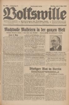 Volkswille : Zentralorgan der Deutschen Sozialistischen Arbeitspartei Polens. Jg.14, Nr. 102 (3 Mai 1929) + dod.
