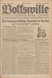 Volkswille : Zentralorgan der Deutschen Sozialistischen Arbeitspartei Polens. Jg.14, Nr. 103 (5 Mai 1929) + dod.